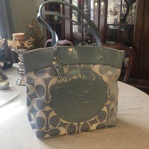 Coach Bag Laura Signature Tote Handbag Purse